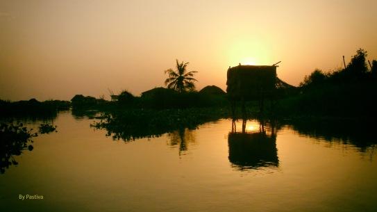 Atardecer en Nokoué (Benin)