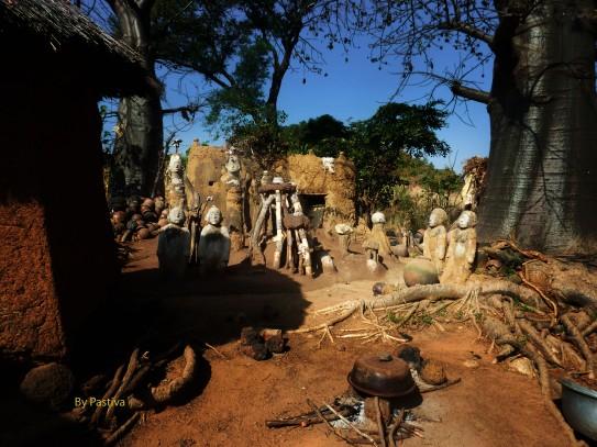 Pueblo cerca de Costa Marfil